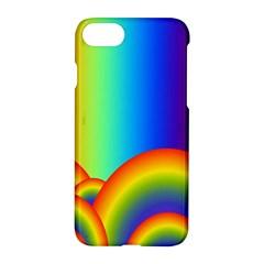 Background Rainbow Apple Iphone 7 Hardshell Case by Nexatart