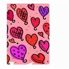 Valentine Wallpaper Whimsical Cartoon Pink Love Heart Wallpaper Design Large Garden Flag (two Sides)