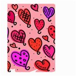 Valentine Wallpaper Whimsical Cartoon Pink Love Heart Wallpaper Design Large Garden Flag (Two Sides) Back