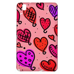 Valentine Wallpaper Whimsical Cartoon Pink Love Heart Wallpaper Design Samsung Galaxy Tab Pro 8 4 Hardshell Case