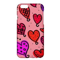 Valentine Wallpaper Whimsical Cartoon Pink Love Heart Wallpaper Design Apple Iphone 6 Plus/6s Plus Hardshell Case by Nexatart