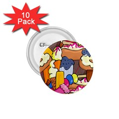 Sweet Stuff Digitally Food 1 75  Buttons (10 Pack) by Nexatart