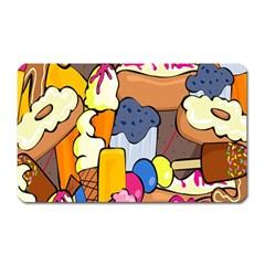 Sweet Stuff Digitally Food Magnet (rectangular) by Nexatart