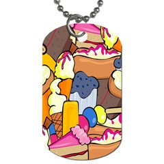 Sweet Stuff Digitally Food Dog Tag (two Sides) by Nexatart