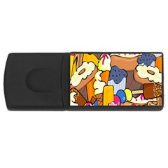Sweet Stuff Digitally Food Usb Flash Drive Rectangular (4 Gb) by Nexatart