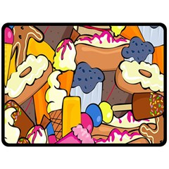 Sweet Stuff Digitally Food Fleece Blanket (large)  by Nexatart