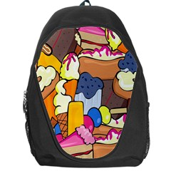 Sweet Stuff Digitally Food Backpack Bag by Nexatart