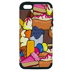 Sweet Stuff Digitally Food Apple Iphone 5 Hardshell Case (pc+silicone) by Nexatart