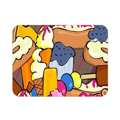 Sweet Stuff Digitally Food Double Sided Flano Blanket (mini)  by Nexatart