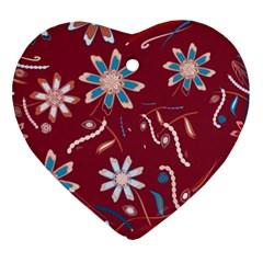 Floral Seamless Pattern Vector Ornament (heart) by Nexatart