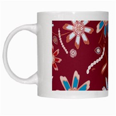 Floral Seamless Pattern Vector White Mugs by Nexatart