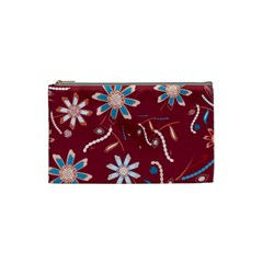 Floral Seamless Pattern Vector Cosmetic Bag (small)  by Nexatart