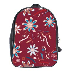 Floral Seamless Pattern Vector School Bags(large)  by Nexatart