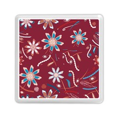 Floral Seamless Pattern Vector Memory Card Reader (square)  by Nexatart