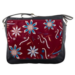 Floral Seamless Pattern Vector Messenger Bags by Nexatart