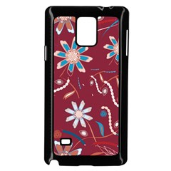 Floral Seamless Pattern Vector Samsung Galaxy Note 4 Case (black) by Nexatart