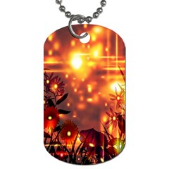 Summer Evening Dog Tag (One Side) by Nexatart