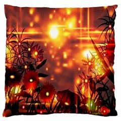 Summer Evening Large Cushion Case (one Side)