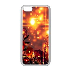 Summer Evening Apple Iphone 5c Seamless Case (white) by Nexatart