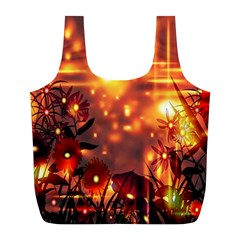 Summer Evening Full Print Recycle Bags (l)  by Nexatart