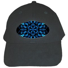 Blue Snowflake Black Cap by Nexatart