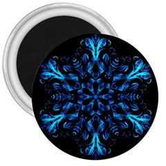 Blue Snowflake 3  Magnets by Nexatart