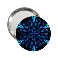 Blue Snowflake 2 25  Handbag Mirrors