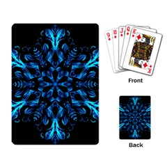 Blue Snowflake Playing Card by Nexatart