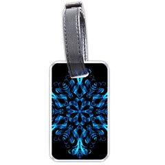 Blue Snowflake Luggage Tags (one Side)
