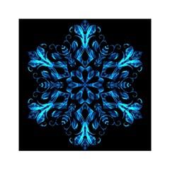 Blue Snowflake Acrylic Tangram Puzzle (6  x 6 ) by Nexatart