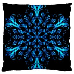 Blue Snowflake Large Cushion Case (two Sides) by Nexatart