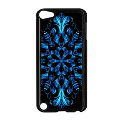 Blue Snowflake Apple Ipod Touch 5 Case (black) by Nexatart