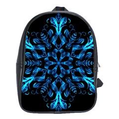 Blue Snowflake School Bags (xl)
