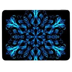 Blue Snowflake Samsung Galaxy Tab 7  P1000 Flip Case by Nexatart