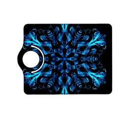 Blue Snowflake Kindle Fire Hd (2013) Flip 360 Case by Nexatart