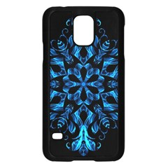 Blue Snowflake Samsung Galaxy S5 Case (black)