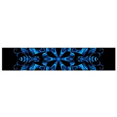 Blue Snowflake Flano Scarf (small)