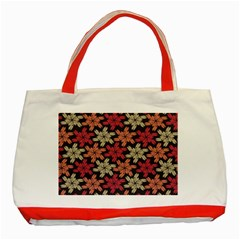 Floral Seamless Pattern Vector Classic Tote Bag (red) by Nexatart