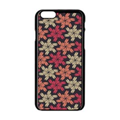 Floral Seamless Pattern Vector Apple Iphone 6/6s Black Enamel Case by Nexatart