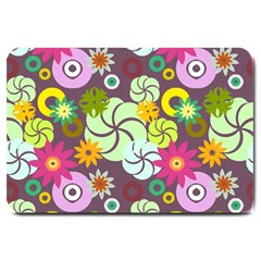 Floral Seamless Pattern Vector Large Doormat  by Nexatart