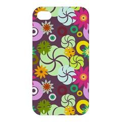 Floral Seamless Pattern Vector Apple Iphone 4/4s Premium Hardshell Case by Nexatart
