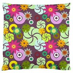 Floral Seamless Pattern Vector Large Cushion Case (two Sides) by Nexatart