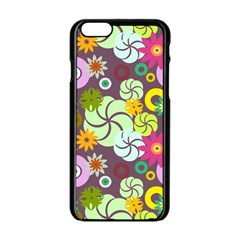 Floral Seamless Pattern Vector Apple Iphone 6/6s Black Enamel Case by Nexatart