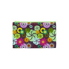 Floral Seamless Pattern Vector Cosmetic Bag (xs) by Nexatart