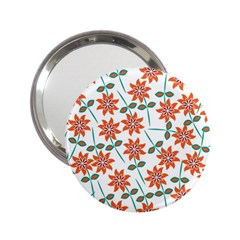 Floral Seamless Pattern Vector 2 25  Handbag Mirrors