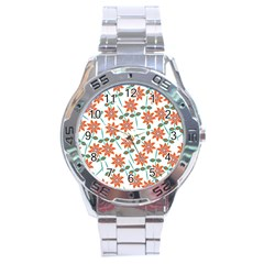 Floral Seamless Pattern Vector Stainless Steel Analogue Watch by Nexatart