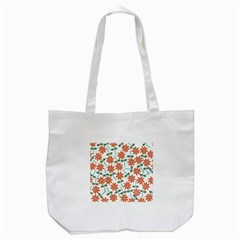 Floral Seamless Pattern Vector Tote Bag (white) by Nexatart