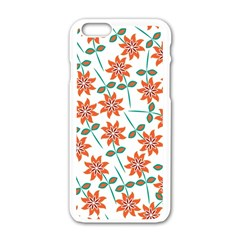 Floral Seamless Pattern Vector Apple Iphone 6/6s White Enamel Case by Nexatart