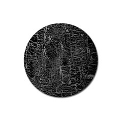 Old Black Background Magnet 3  (round) by Nexatart
