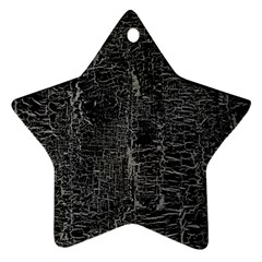 Old Black Background Star Ornament (two Sides) by Nexatart